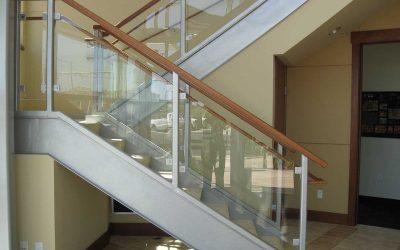 Custom Glass Handrails Define Space